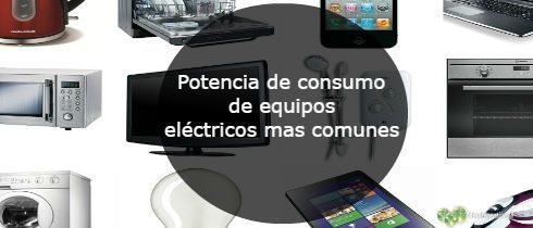 Potencia de consumo de equipos elctricos mas comunes