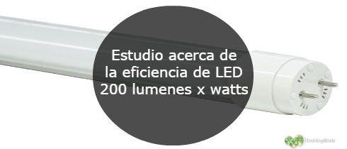 Estudio acerca de la eficiencia de LED 200 lumenes x watts