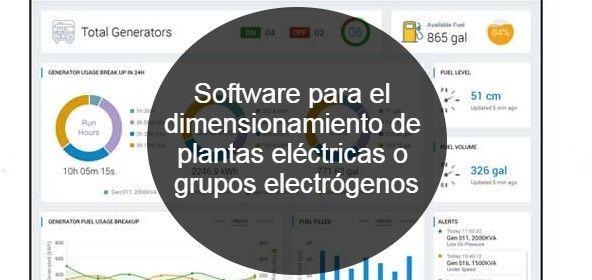 Software para el dimensionamiento de plantas eléctricas o grupos electrógenos